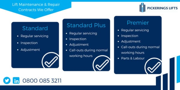 Lift maintenance contracts we offer